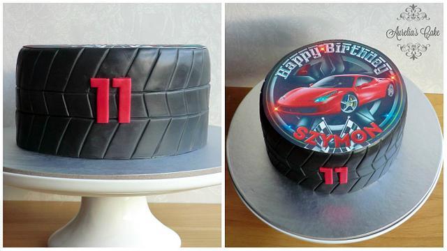 Tire cake