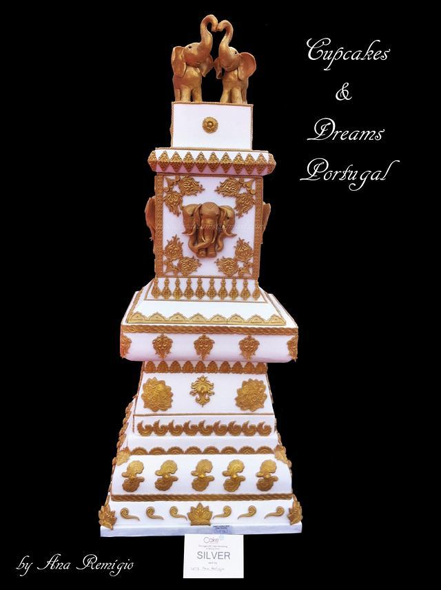 CAKE INTERNATIONAL LONDON - INDIAN WEDDING CAKE SILVER MEDAL