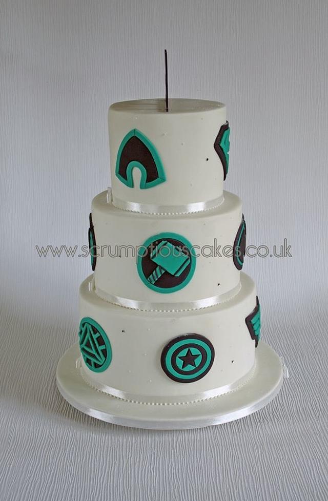 Superhero Icon Wedding Cake