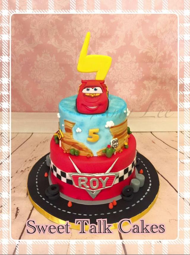 Phenomenal Lighting Mcqueen Cake Cake By Vancouver Sugar Arts Cakesdecor Funny Birthday Cards Online Overcheapnameinfo