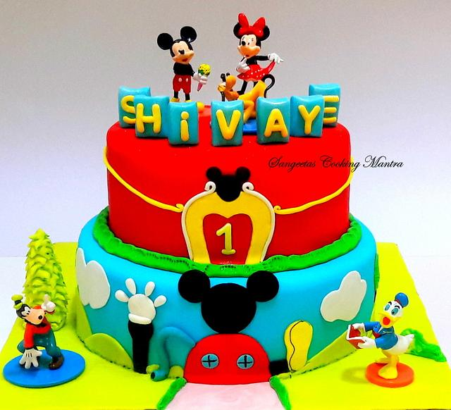 Mickey Mouse club house theme cake