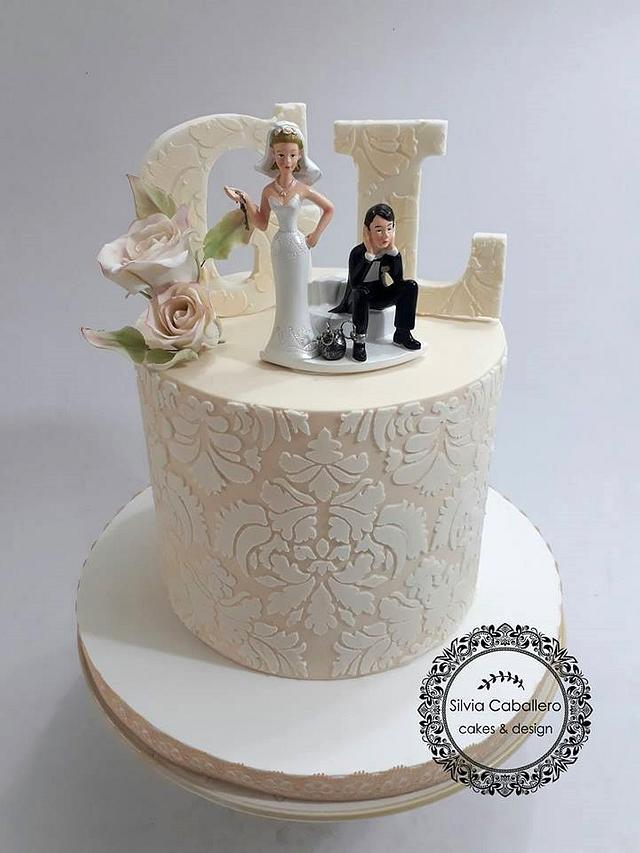 Funny Wedding Cake Cake By Silvia Caballero Cakesdecor