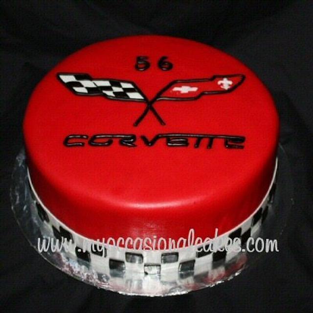Corvette(R) Logo cake