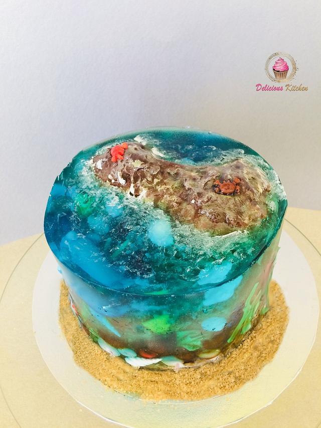 Ocean jelly cake