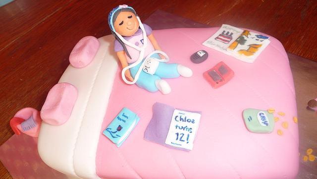 Girly cake for Chloe