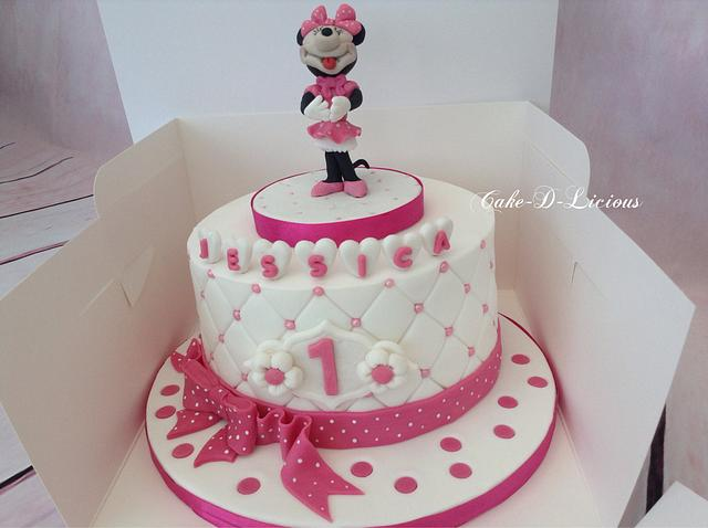 Awesome 1St Birthday Cute Minnie Mouse Cake By Sweet Lakes Cakesdecor Funny Birthday Cards Online Unhofree Goldxyz
