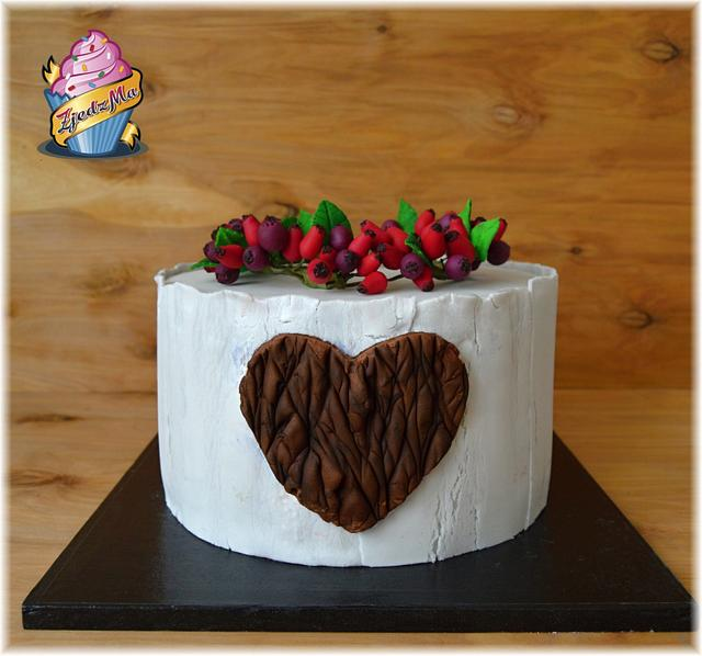 Cake with heart