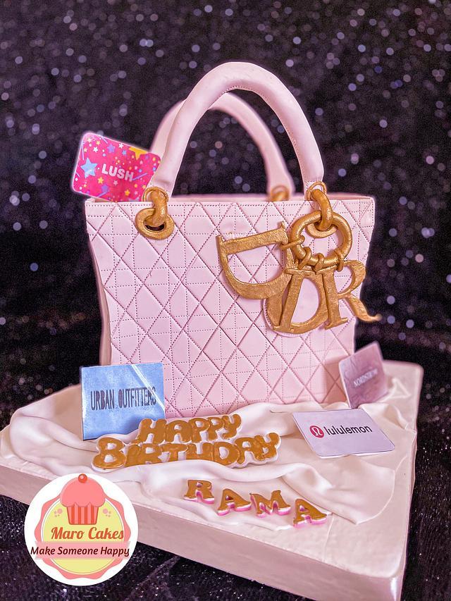 Dior bag cake