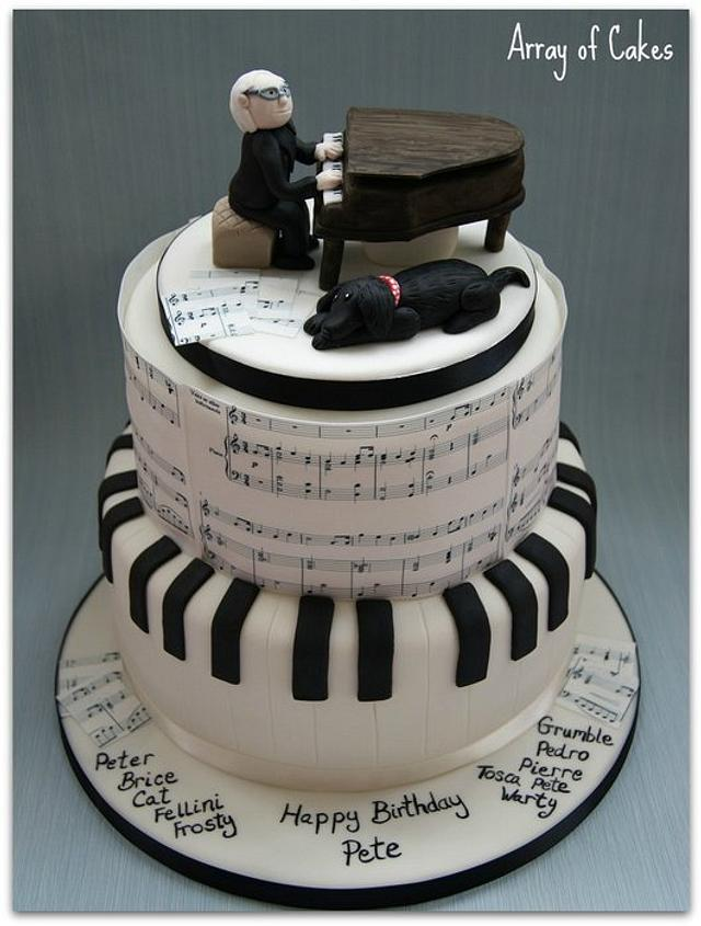 Outstanding Musical Birthday Cake Cake By Emma Cakesdecor Funny Birthday Cards Online Alyptdamsfinfo