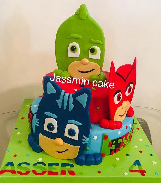 pj masks cake  cakejassmin cake in egypt  cakesdecor