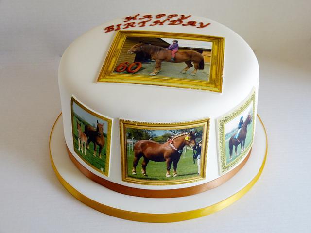 Suffolk Punch Horse edible image cake