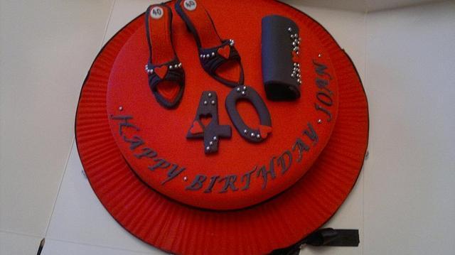 Shoes and handbags cake