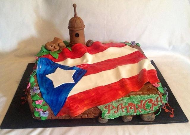 Puerto Rican Pride Birthday Cake