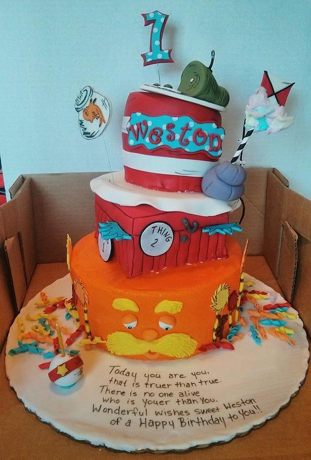 Sensational Dr Suess Birthday Cake Cake By Jeana Byrd Cakesdecor Funny Birthday Cards Online Aboleapandamsfinfo