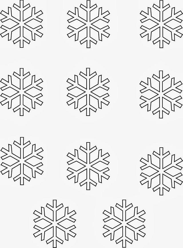 Snowflakes Template Cake By The Cake Outfitter Cakesdecor