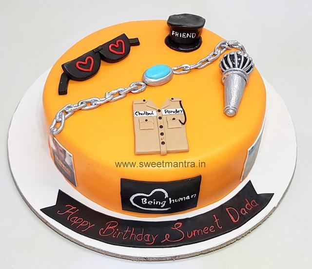 Astonishing Bollywood Superstar Salman Khan Theme Customized Cake Cakesdecor Personalised Birthday Cards Petedlily Jamesorg