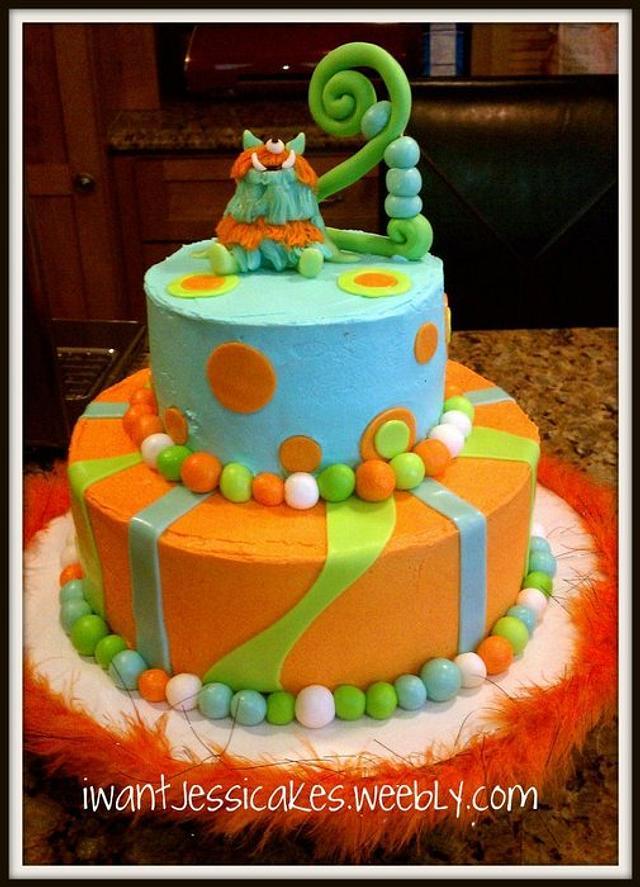 2nd birthday Monster cake