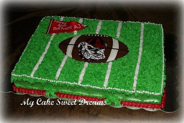 Georgia Bulldog Football field cake