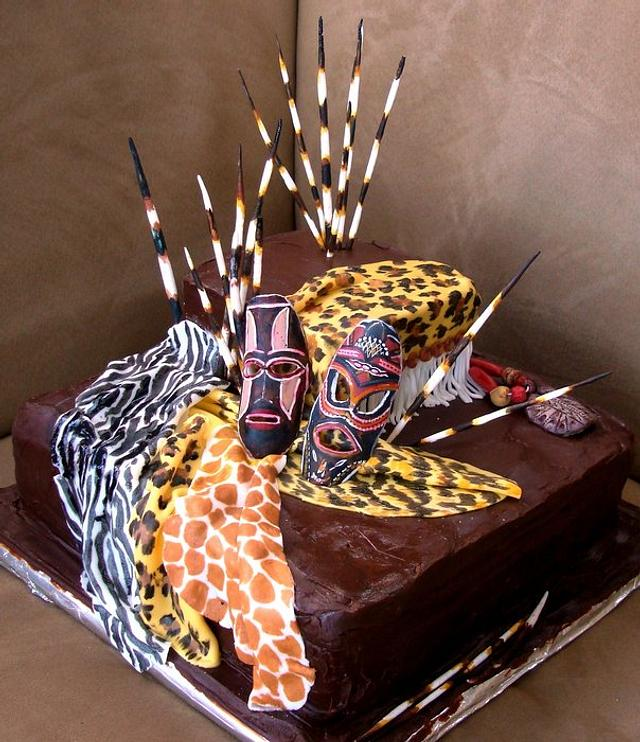 my first cake - African theme
