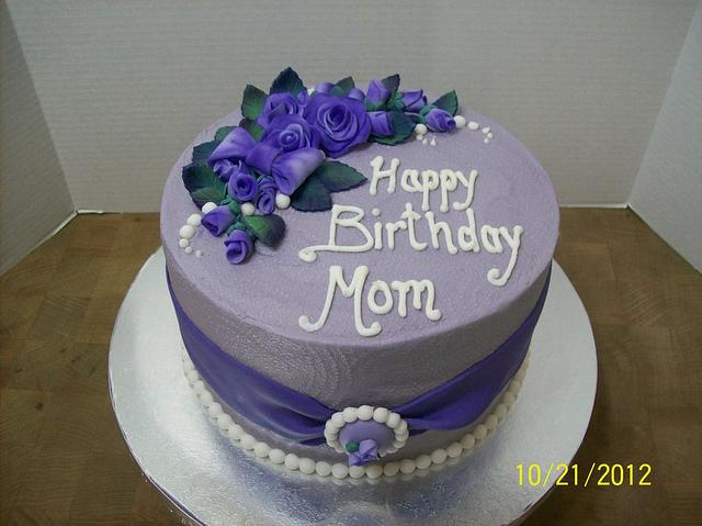 Admirable Happy Birthday Mom Cake By Chris Jones Cakesdecor Funny Birthday Cards Online Eattedamsfinfo