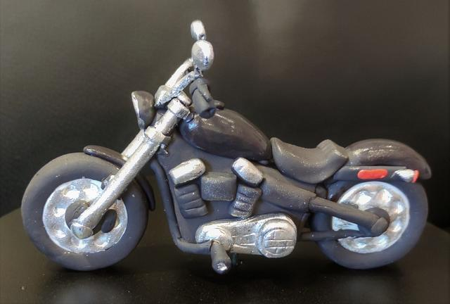 cake with motorcycle