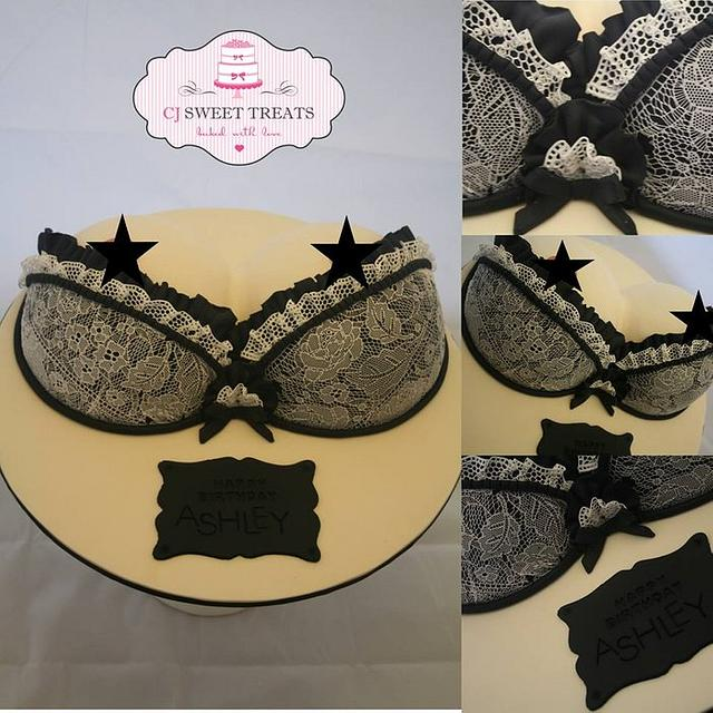 Bust cake with sugarveil lace