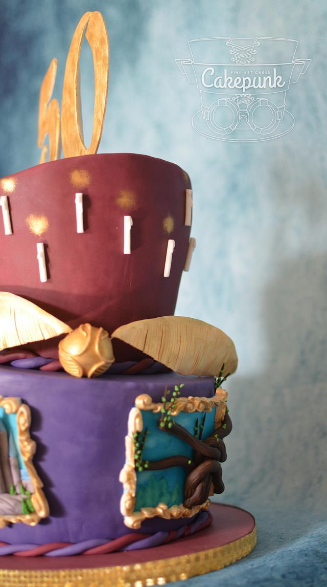Hogwarts Challenge 50th Birthday Cake 1