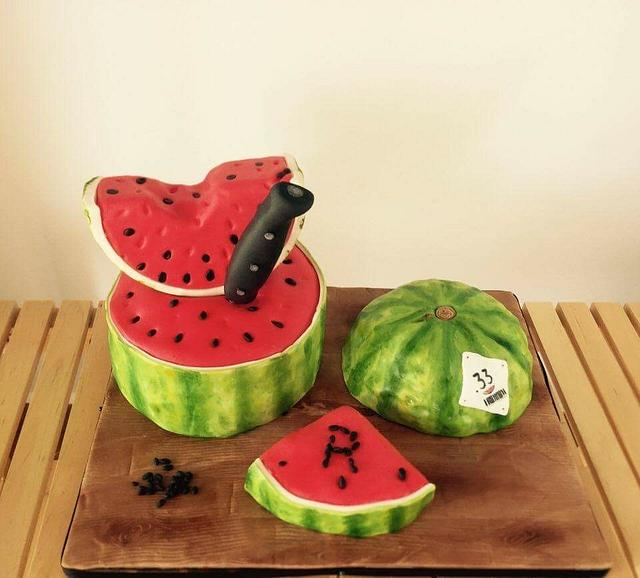 Hello Summer! Watermelon birthday cake 🍉