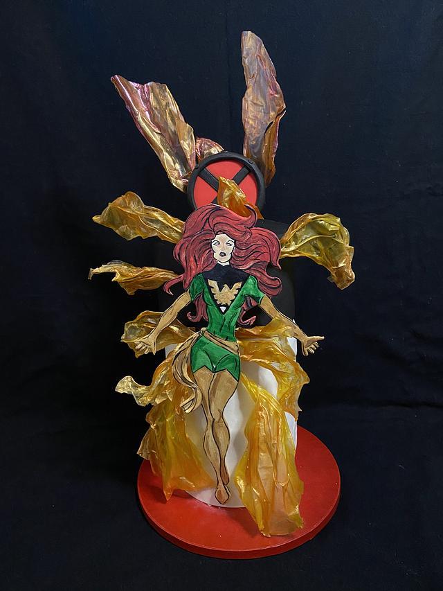 Jean Grey- the Phoenix ( World of Marvel Cake Collaboration)