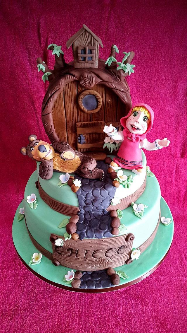 Masha and Orso cake