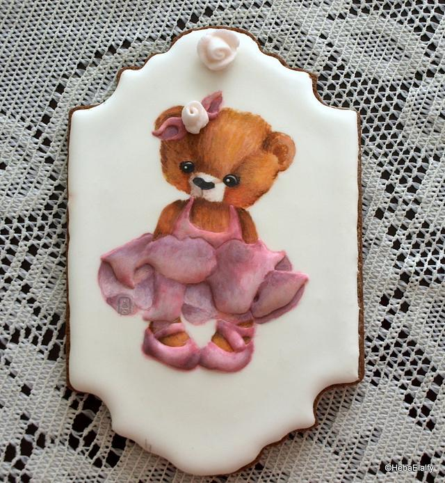 Ballerina Bear cookie.