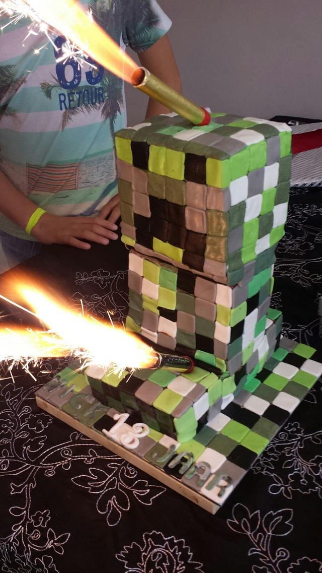 Mindcraft cake 3D