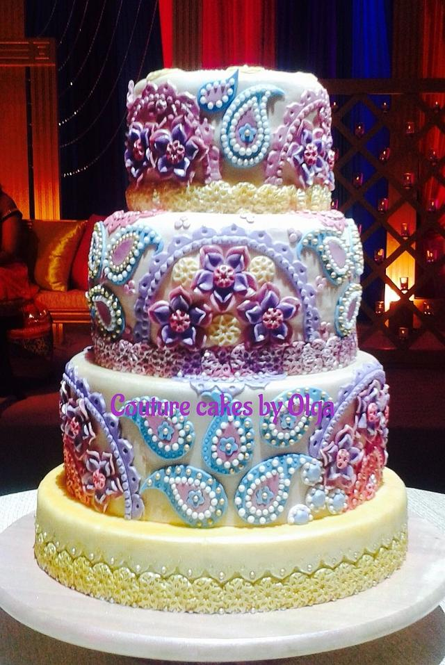 Indian wedding cake - cake by Couture cakes by Olga ...