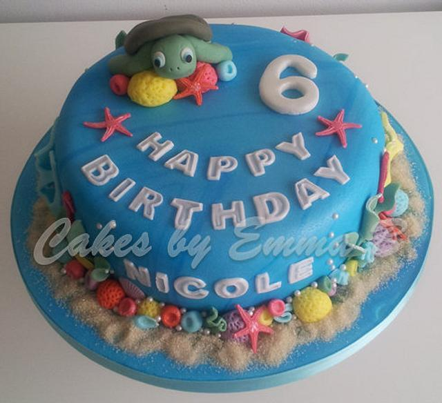Swell Ocean Themed Birthday Cake Cake By Cakesbyemmab Cakesdecor Funny Birthday Cards Online Aeocydamsfinfo