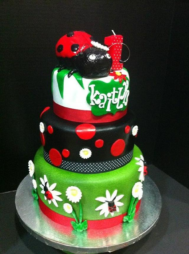 Remarkable Lady Bug Birthday Cake Cake By Teresa Markarian Cakesdecor Funny Birthday Cards Online Overcheapnameinfo