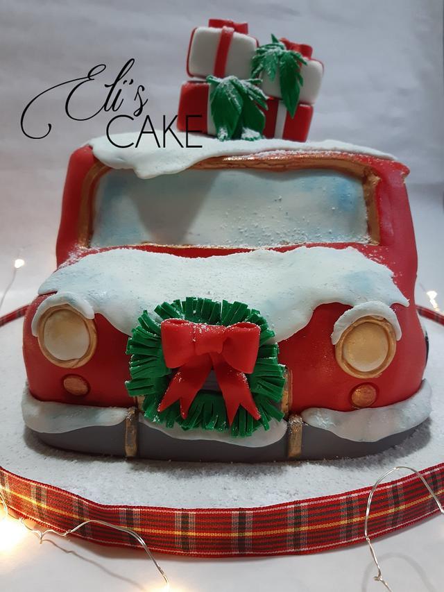 Christmas Car Cake