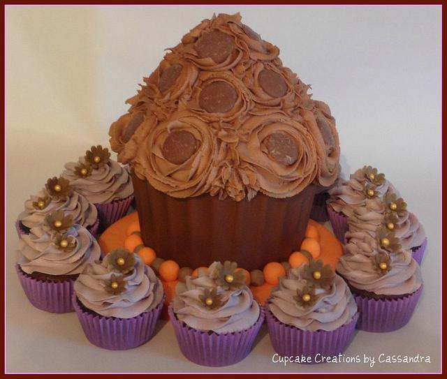 Giant Chocolate orange Cupcake