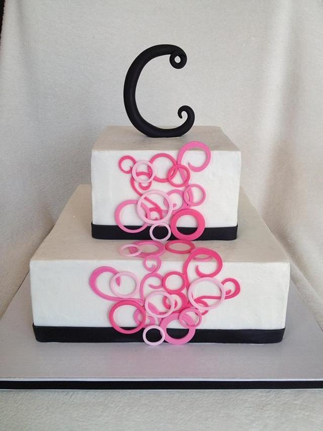 """40 and Fabulous"" Birthday Cake"