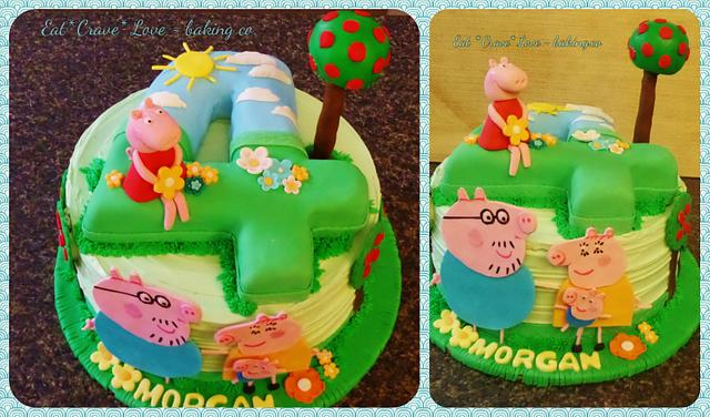 Incredible Peppa Pig Birthday Party Cake Cake By Cakesdecor Personalised Birthday Cards Paralily Jamesorg