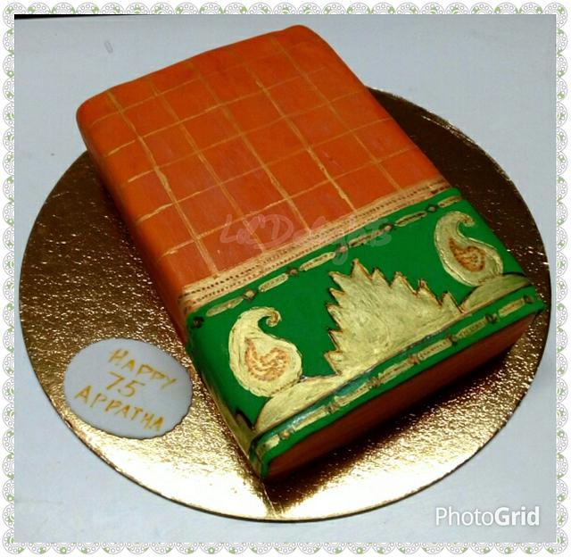 A Traditional Kancheevaram Silk Saree cake