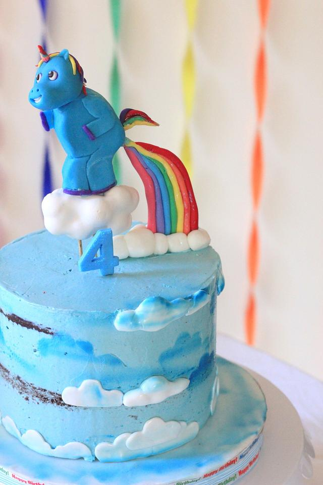 Unicorn pooping Rainbow