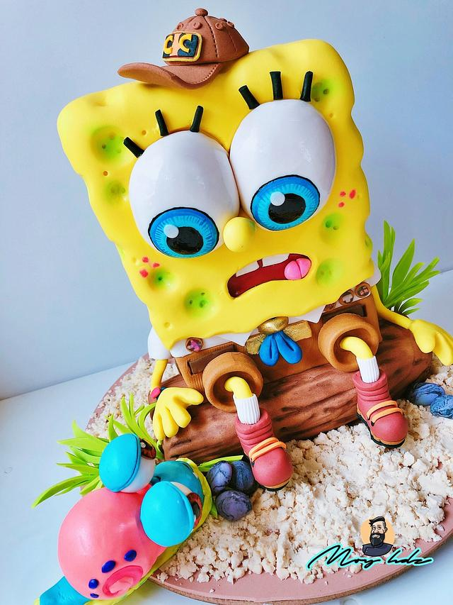 SpongeBob 3D cake 🧽