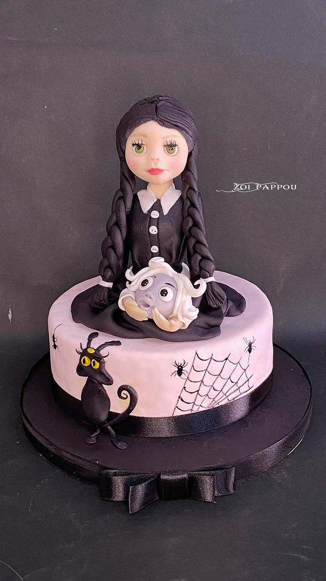 Wednesday Adams familly Cake