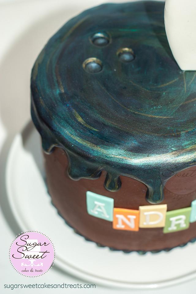 Melting Bowling Ball Drip Cake