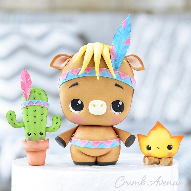 Horse, Cactus & Fire Cake Toppers