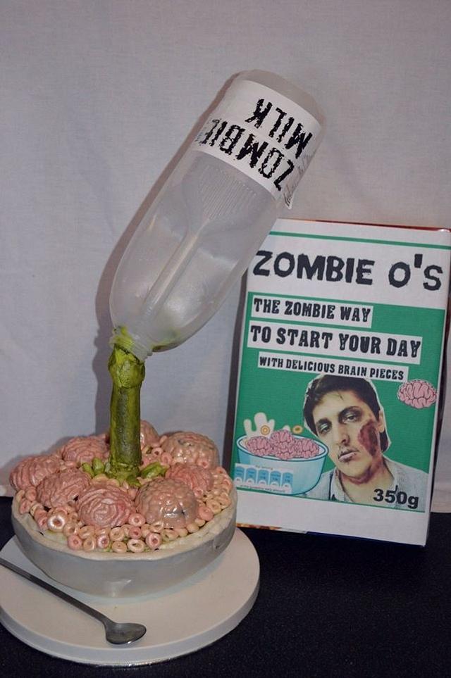 #sugarartzombiescollaboration zombie breakfast