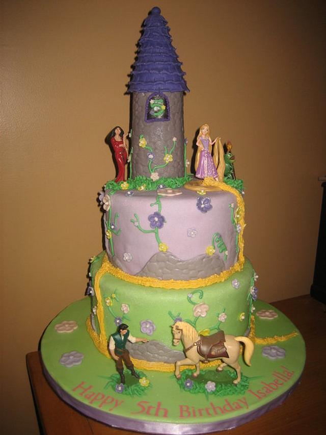 Strange Tangled Disney Princess Birthday Cake Cake By Kristen Cakesdecor Birthday Cards Printable Trancafe Filternl