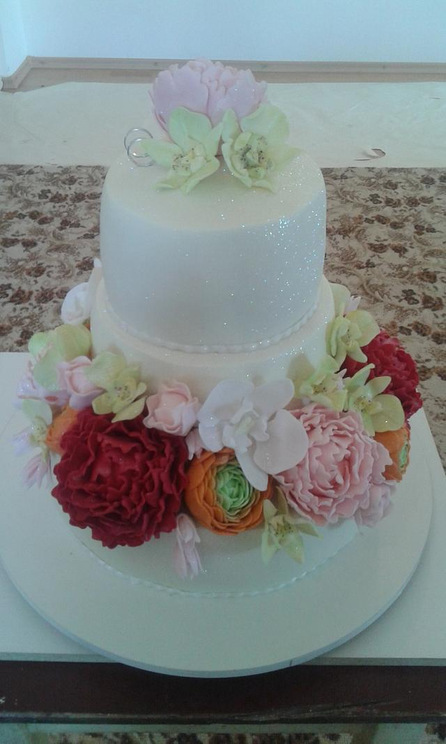 flower wedding romance