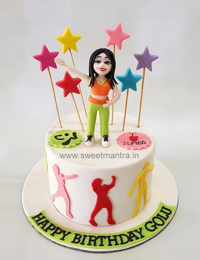 Zumba Theme Cake Cake By Sweet Mantra Customized 3d Cakesdecor