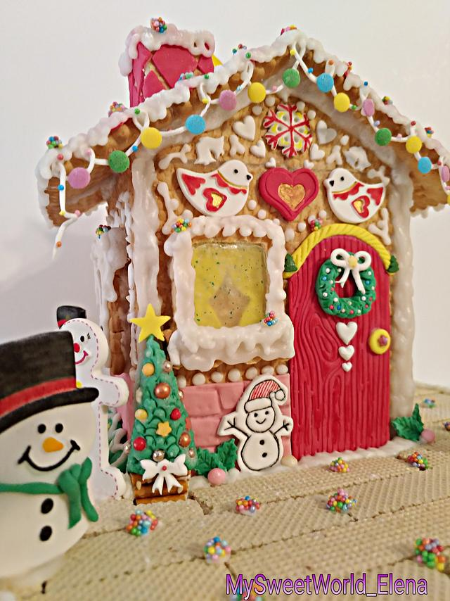 Christmas cookie house...🎅🤶